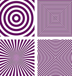 Purple striped pattern background set vector image