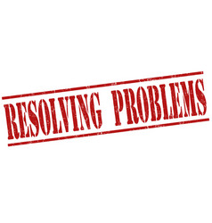 resolving problems stamp vector image