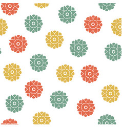 seamless floral geometrical pattern small flowers vector image