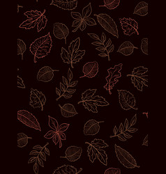 seamless pattern from doodle hand drawn vector image