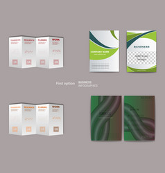 Set of abstract modern flyers and brochures vector