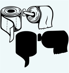 Simple toilet paper vector