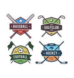 Sport Emblems 2 vector image