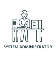 System administrator line icon linear vector