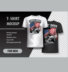 t-shirt template fully editable with vintage hot vector image