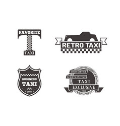 Taxi badge car service business sign template vector