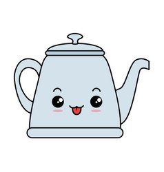 teapot elegant kawaii character vector image