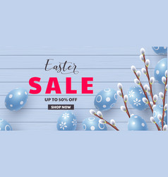 template for easter holidays discounts vector image