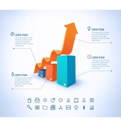 template in modern style For infographic and vector image