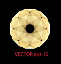 the geometric logo is stylish golden vector image