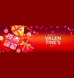 Valentines day banner background design of vector