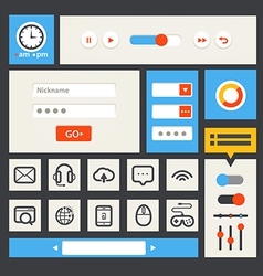 Web interface template vector image