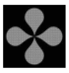 white halftone map pointers icon vector image