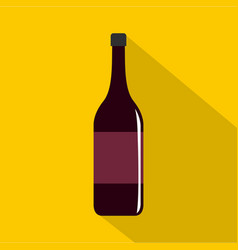 Wine bottle icon flat style vector