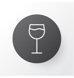 wine icon symbol premium quality isolated vector image