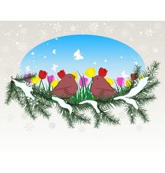 Winter Season Card vector image