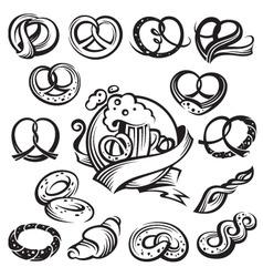 bavarian pretzels vector image