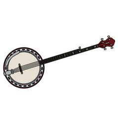 red five string banjo vector image