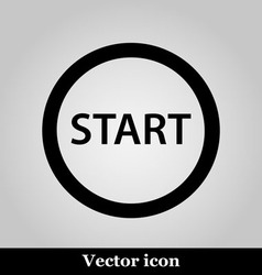 Start icon on grey background vector image