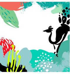 stylized background hand-drawn vector image