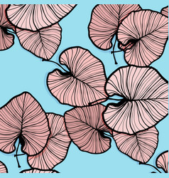 tropical palm leaves trendy summer vector image vector image