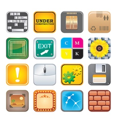 apps icon set five vector image