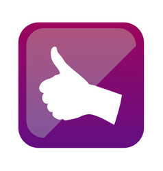 color square with hand signal ok vector image