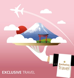 Exclusive Japan vector image vector image