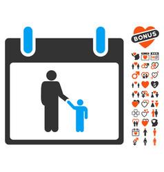 father calendar day icon with valentine bonus vector image