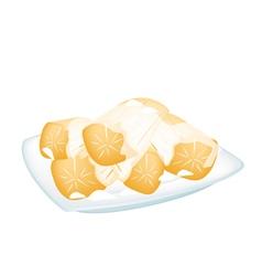 Potato in Coconut Milk on White Background vector image vector image