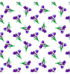 Seamless spring pattern Crocus vector image vector image