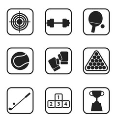 sports icons on white background vector image