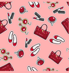 wallpaper earing ring sack shoes lipstick vector image