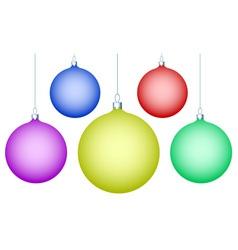 Cristmas balls vector image vector image