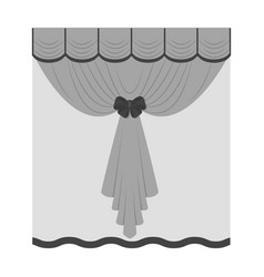 curtains single icon in monochrome stylecurtains vector image