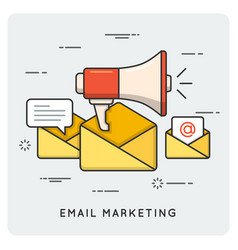 email marketing thin line concept vector image