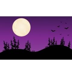 Halloween bat purple backgrounds vector image vector image