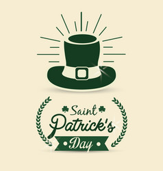 Happy st patricks day icon vector