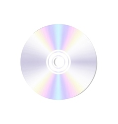 realistic blank compact disc CD or DVD vector image