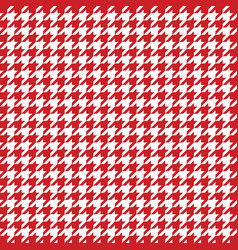 red houndstooth pattern classical vector image vector image