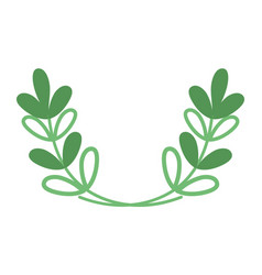 silhouette branches with leaves natural plant vector image