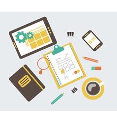 web design development workflow vector image vector image