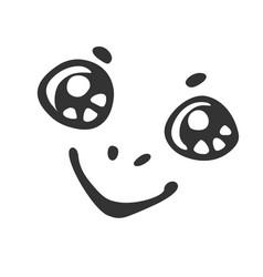 cartoon smiling muzzle vector image vector image