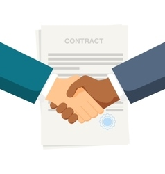 Conclusion of a contract Handshake two vector image
