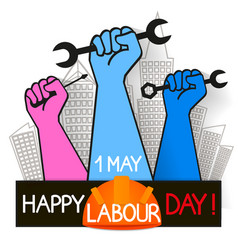 may 1st labor day vector image vector image