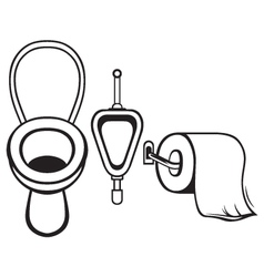 Toilet paper and toilet vector image vector image