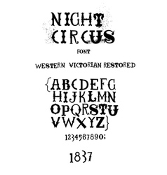 Vintage fanciful font vector image vector image