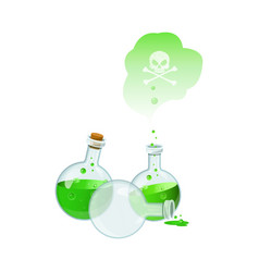 with set of poison bottles vector image vector image