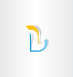 yellow blue logo letter l icon element vector image vector image