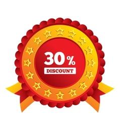30 percent discount sign icon Sale symbol vector
